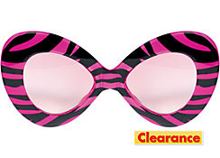 Zebra Pink and Black Diva Sunglasses