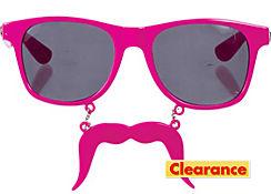 Pink Handlebar Sun-Staches