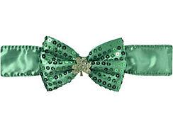 Sequin Shamrock Bow Tie Choker