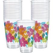 Hibiscus Plastic Tumblers 25ct