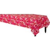 Candy Hearts Valentines Day Paper Table Cover 54in x 96in