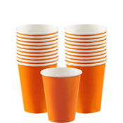Orange Paper Cups 20ct