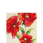 Poppy Cream Beverage Napkins 20ct