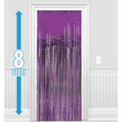 Purple Foil Doorway Curtain 8ft