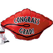 Foil Red Graduation Cap Balloon
