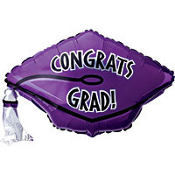 Foil Purple Graduation Cap Balloon