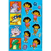 Dora the Explorer Stickers 2 Sheets