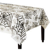 Spider Web Clear Plastic Table Cover 108in