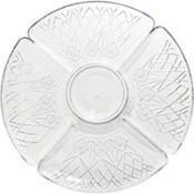 Clear Plastic Crystal Cut Lazy Susan 16in
