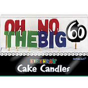 Oh No the Big 60 Birthday Toothpick Candles 11ct