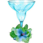 Floral Paradise Cool Plastic Margarita Glass 12oz