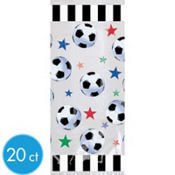 Soccer Large Party Bags 20ct