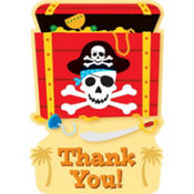 Pirate's Treasure Thank You Cards 8ct
