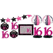 Sweet 16 Sparkle Decorating Kit 10pc