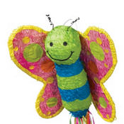 Pull String Butterfly Pinata 23in