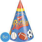 Little Champs Party Hats 8ct