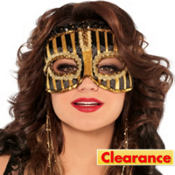 Fancy Stripe Masquerade Mask