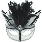 Starlight Venetian Feather Mardi Gras Mask