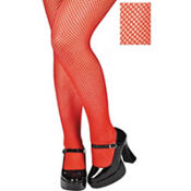Adult Red Fishnet Pantyhose Plus Size