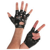 Adult Studded Fingerless Gloves