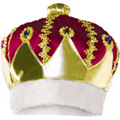Adult Burgundy King Crown