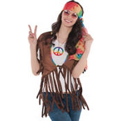 Adult Feelin' Groovy Fringe Vest