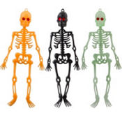Assorted Halloween Skeletons 10in 3ct