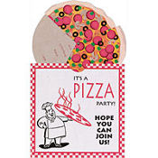 Jumbo Pizza Party Invitations 8ct