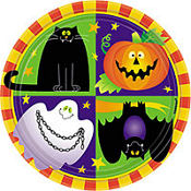 Friendly Frights Lunch Plates 8ct