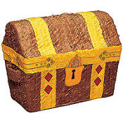 Treasure Chest Pinata 12in