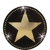 Star Attraction Metallic Dessert Plates 8ct