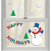 Happy Snowman Gel Clings 26ct