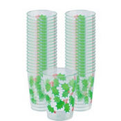 Holly Plastic Tumblers 10oz 40ct