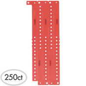 Red Plastic Wristbands 250ct