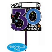 The Party Continues 30th Birthday Yard Sign 14in x 15in