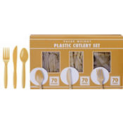 Gold Cutlery Set 210pc