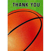 Basketball Thank You Cards 8ct