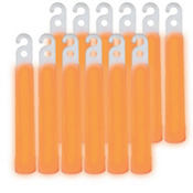Orange Glow Stick Necklaces 4in 12ct