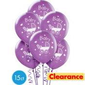 Baby's Nursery Baby Balloons 12in 6ct