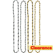 Silver and Gold Hollywood Bead Necklaces 48in 4ct