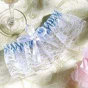Blue and White Wedding Garter