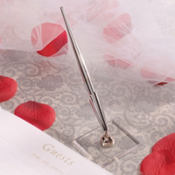 Silver Wedding Guest Book Pen
