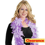 Purple Two Toned Feather Boa 72in