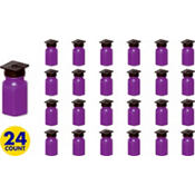 Grad Cap Purple Bubbles 24ct