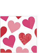 Key to Your Heart Valentine's Day Beverage Napkins 16ct