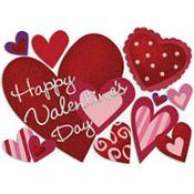 Glitter Valentine's Day Hearts Cutout