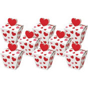 Red Hearts Favor Boxes 4 1/4in 8ct
