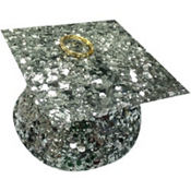 Silver Glitter Graduation Balloon Weight 6oz
