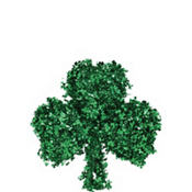 Shamrock Tinsel Wreath 18in