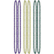 Orbit Mardi Gras Bead Necklaces 32in 6ct
